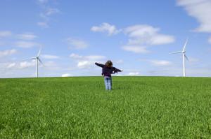 energía eólica, pradera