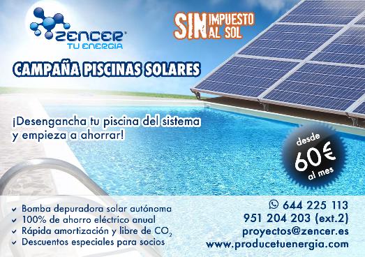 Campaña piscinas solares #DesenchufaTuPiscina